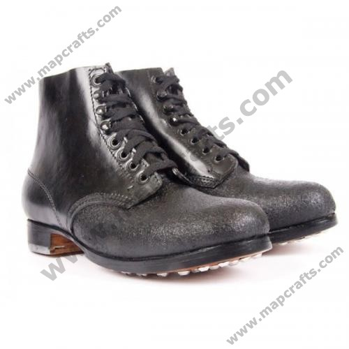 GERMAN WWII BLACK LOW BOOTS