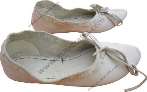 Medieval Leather Female Flats Natural Shoes
